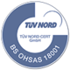 Tüv Nord Cert: ISO 9001/BS OHSAS 1800